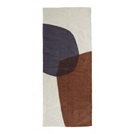 madam stoltz tapis de couloir multicolore coton tisse main