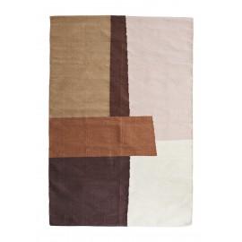 madam stoltz tapis motif geometrique couleurs chaudes coton 120 x 180