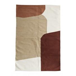 madam stoltz tapis contemporain couleurs chaudes coton
