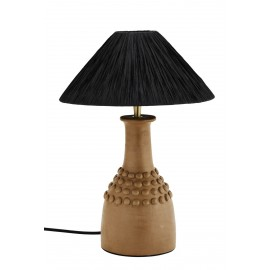 madam stoltz lampe style campagne rustique chic terre cuite raphia