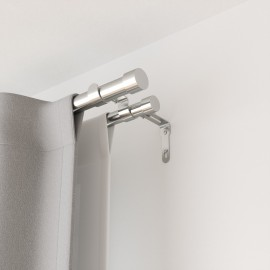 umbra cappa tringle a rideaux double extensible contemporaine argent