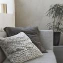 house doctor milo grande housse de coussin doux noir blanc 60 x 60 cm