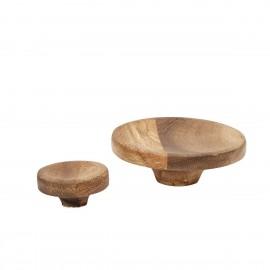 hubsch set de 2 pateres rondes bois acacia