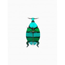 insecte mural en carton decoration charancon studio roof