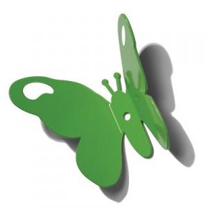 papillon-vert-patere-murale-pluto
