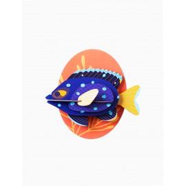 poisson demoiselle bleu decoratif mural carton studio roof