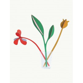 Fleurs design décoratives en carton Studio Roof Spring Boogie