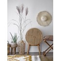 bloomingville otto petit meuble rangement rond bois rotin cannage