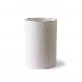 hk living abat jour pour lampe de table cylindrique lin naturel blanc ecru