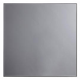 miroir mural carre verre teinte gris cadre metal industriel nordal