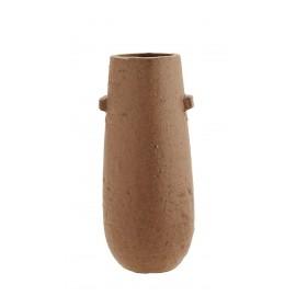 madam stoltz vase gres rouge rustique ovale terracotta