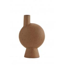 petit vase design gres brut finition terracotta madam stoltz