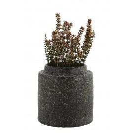 cache pot rustique gres pierre de lave volcanique madam stoltz