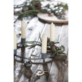 ib laursen bougeoir scandinave cercle metal brut brocante 4 bougies