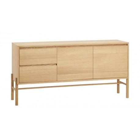 hubsch buffet design scandinave bois chene clair