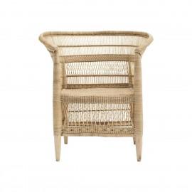 house doctor rika fauteuil arrondi rotin tresse bois clair