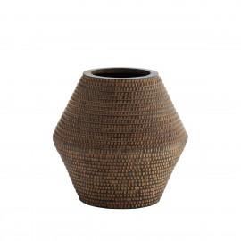 madam stoltz vase terre texture raye