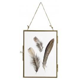 cadre photo rectangulaire a suspendre vintage metal dore nordal