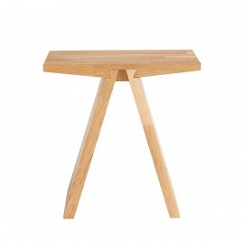 muubs tabouret design epure bois chene clair massif