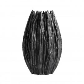 muubs vase froisse fonte d aluminium gris moment