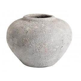 muubs luna vase gris terre cuite aspect brut lunaire