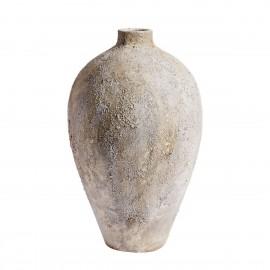 jarre grise terre cuite aspect brut lunaire muubs luna 80