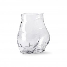 hk living bum vase fesses verre transparent