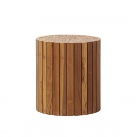 Table d'appoint design rondin de bois House Doctor Teaky