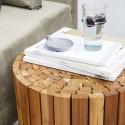 Table d'appoint design rondin de bois House Doctor Teaky