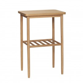 table d appoint carree design scandinave bois clair hubsch