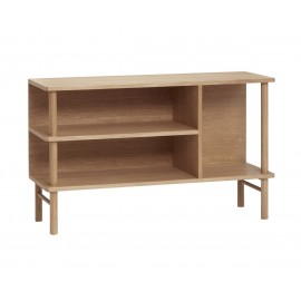 commode ouverte design scandinave bois clair hubsch