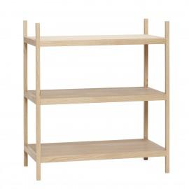 etagere a poser basse design scandinave bois clair hubsch