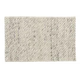 tapis descente de lit blanc ivoire laine nordal lara 60 x 90 cm