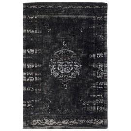 grand tapis noir gris motif baroque vintage delave nordal 160 x 240 cm