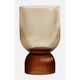 vase chic verre marron ambre style neo art deco nordal riva