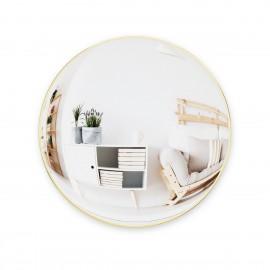 umbra grand miroir mural rond convexe laiton convexa