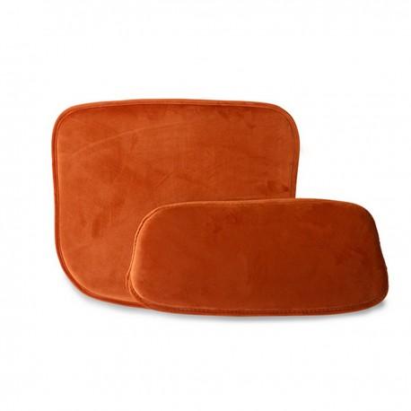 hk living coussin de tabouret de bar velours rouge comfort kit