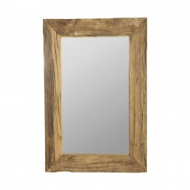 house doctor miroir mural bois brut naturel style campagne pure