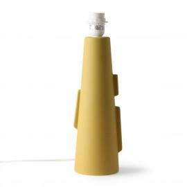 hk living cone pied de lampe a poser design ceramique vert mat