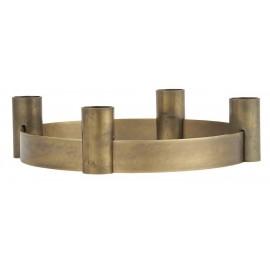 ib laursen bougeoir cercle 4 bougies metal dore laiton