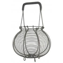 Panier rond à œufs oignons vintage métallique IB Laursen