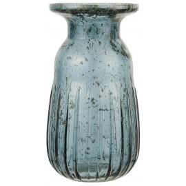 petit vase retro vitange verre teinte bleu ib laursen