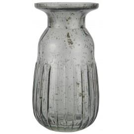 ib laursen petit vase a jacinthe verre gris vintage