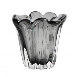 petit vase verre teinte gris style retro vintage nordal kataja s