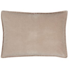 grand coussin rectangulaire velours grege ib laursen 50 x 70 cm