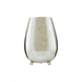 house doctor tinka vase verre sur trepied vert brillant