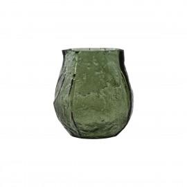 house doctor moun petit vase vert verre surface rugueuse rustique
