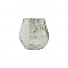 house doctor moun petit vase verre aspect rugueux vert clair brillant