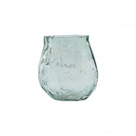 petit vase verre rugueux irregulier bleu house doctor moun