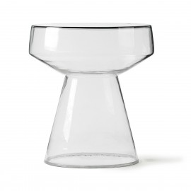table basse d appoint ronde verre transparent hk living